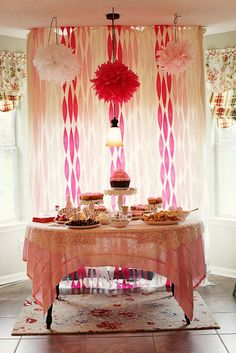 A fun pink birthday party!