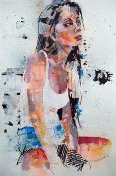 "Saatchi Art Artist thomas donaldson; Drawing, ""10-25-13 sara"" #art"