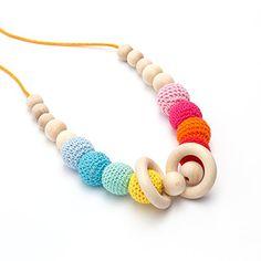 Collar de lactancia modelo Arco Iris Collares de lactancia y artesanías