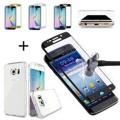 Full Cover Tempered Glass Screen Protector &TPU Case Samsung Galaxy S6 Edge/Plus #UNBRANDED