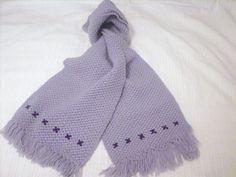 bufanda lila a crochet