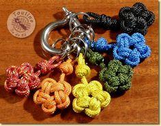 Porte-clés nœud en étoile à cinq branches