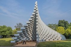 Curving Pavilion of Brilliantly Stacked Bricks Invites Visitors to Interact with Architecture - My Modern Met