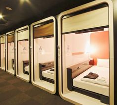 5 Best Unique Hotels You should Definitely Stay in Tokyo! 5 Best Unique Hotels You should Definitely Stay in Tokyo! Sleep Box, Casa Hotel, Sleeping Pods, Capsule Hotel, Hotel Room Design, Unique Hotels, Small Hotels, Cheap Hotels, House Plans