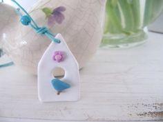 Ketten kurz - Kette Vogelhaus Dream - ein Designerstück von MIO-O bei DaWanda