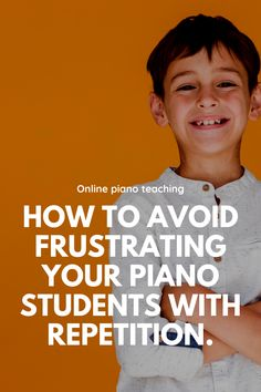 We need to use repetition as a teaching tool - but how can you do it without frustrating your student? Check out our tips here! Piano Teaching, Teaching Jobs, Teaching Strategies, Focus On Goals, Neural Connections, Piano Games, Reading Adventure, Learning Tools, Piano Lessons