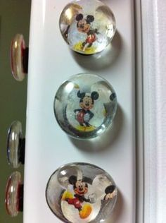 Fish Extender gifts-Mickey Magnets - Mommahopper I have the punch, the paper, just need the magnets and bubble glass
