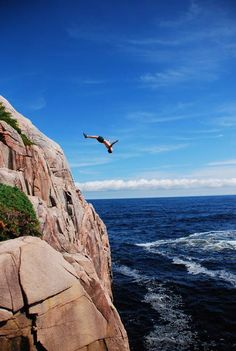 Cliff Diving in Mexico?  How about Ingonish, Nova Scotia, Canada