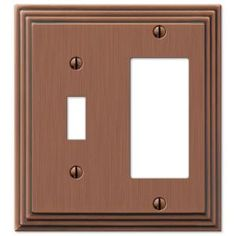 hampton bay steps 1 toggle 1 decora switch wall plate antique copper