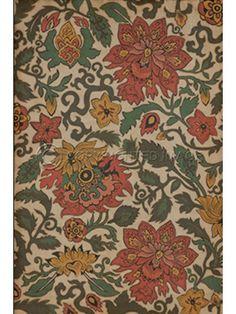 Spicher Vinyl Floor Cloths, Coral Japonica Vinyl Floor Cloth