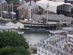 The SS Great Britain as seen from Cabot Tower - Bristol