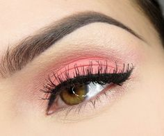 Coral and pink eye using Oh So Special palette
