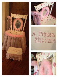 DIY! Little Girls Vanity using old chair! Totally adorable! Makes awesome presents for your little princess.