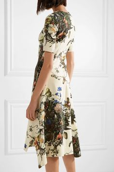 Adam Lippes | Floral-print wool midi dress | NET-A-PORTER.COM