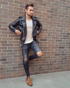 Mens leather jackets. Leather jackets certainly are a crucial component to each and every man's wardrobe. Men need jackets for several moments as well as some climate conditions