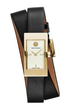 Free shipping and returns on Tory Burch 'Buddy Signature' Rectangular Wrap Leather Strap Watch, 17mm x 31mm at Nordstrom.com. Named after Tory's father, the Buddy Signature watch boasts a streamlined silhouette with vintage inspiration. A polished rectangular case, a stitch-free double-wrap leather strap and a hidden crown define the clean and classic lines, while a scratch-resistant sapphire crystal face protects the smooth enamel dial and honored Swiss craftsmanship.