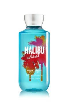 Malibu Heat - Shower Gel - Signature Collection - Bath & Body Works - Wash your way to softer, cleaner skin with a rich, bubbly lather bursting with fragrance. Moisturizing Aloe and Vitamin E combine with skin-loving Shea Butter in our most irresistible, beautifully fragranced formula!