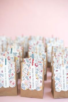 DIY Liberty of London Favor Bags | Oh Happy Day