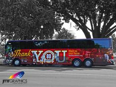 Washington Redskins Bus Wrap by JMR Graphics