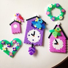 Spring decorations hama perler beads by grycandypants
