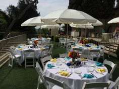 Beautiful afternoon event in the Spring at the  #kellogghouse #venue #outdoorvenue #bridalshower #shower #umbrellas #garden