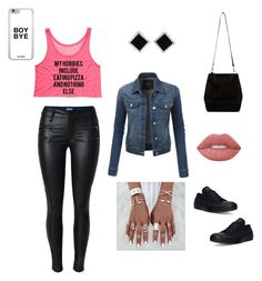 """Thinky Pinky Pink "" by missdynamite54 ❤ liked on Polyvore featuring LE3NO, Yvel, Lime Crime and Converse"