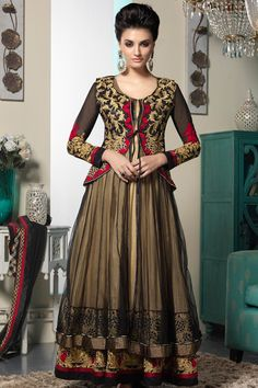 Black and #Peach Yellow Faux Georgette #Embroidered Party Lawn Kameez Sku Code: 223-4234SL148322 US $131.00 http://www.sareez.com/black-and-peach-yellow-faux-georgette-embroidered-party-lawn-kameez.html#