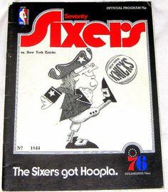 1970 PHILADELPHIA 76ers vs NEW YORK KNICKS GAME PROGRAM- SPECTRUM-  FREE SHIP #Philadelphia76ers