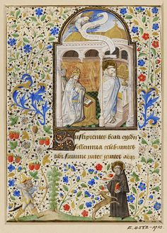 Leaf from a Book of Hours        Object:        Manuscript      Place of origin:        Paris, France (illuminated)      Date:        ca. 1440-1450 (illuminated)      Artist/Maker:        Dunois Master (illuminator)      Materials and Techniques:        Water-based pigments, gilding and ink on parchment