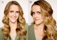 Soft Flat Iron Curls Steps 11 - 12