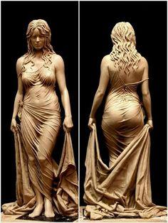 Asses statue nude women