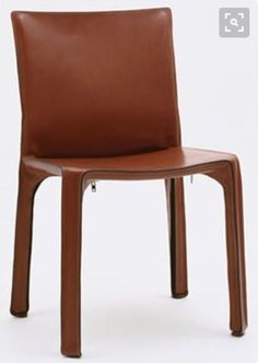 Mario Bellin, Cab Chair, Dark Tan Leather chair
