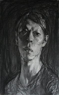 charcoal self, 51 x 32 cm, by Kota Sasai