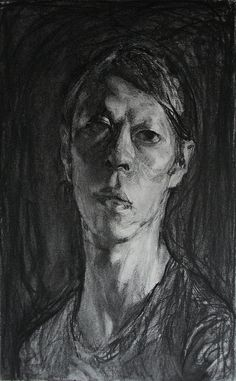 "charcoal self, 51 x 32 cm, by Kota Sasai ""Chunky bit of charcoal my man!"" KB"