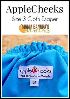AppleCheeks size 3 cloth diaper fits 30-65 pounds and is made in Canada. Made with waterproof PUL and lined with microfleece this envelope pocket cover can be stuffed with maximum absorbency.