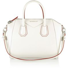 Givenchy Small Antigona bag in white grained leather ($1,350) ❤ liked on Polyvore featuring bags, handbags, givenchy, purses, totes, white, white purse, givenchy handbags, full grain leather handbags and givenchy purse