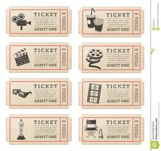 blank ticket diy and crafts ticke