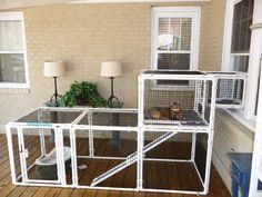 Two Story Cat Condo And Litter Box Enclosure Door Solid