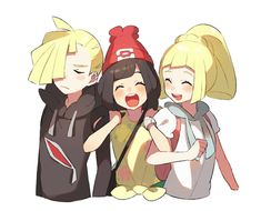 Come on Gladion and Lillie! To the malasada shop (I didn't tell hau to come |:) :he probably would go triggered:)