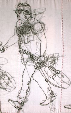 Rude Boy (detail of piece showing animated figure)