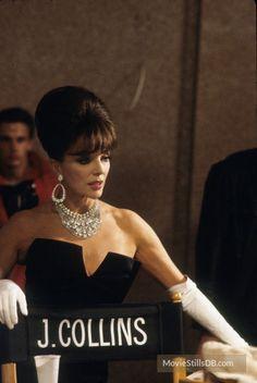 Sins - Behind the scenes photo of Joan Collins