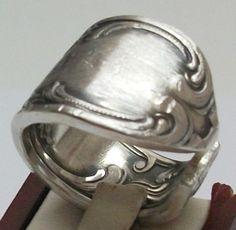 Antiker, breiter Besteckring Gr. 19,1 mm, S137 von Atelier Regina auf DaWanda.com