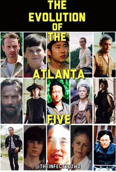 The Atlanta Five: Rick, Daryl, Carol, Glenn, and Carl | The Walking Dead (AMC)