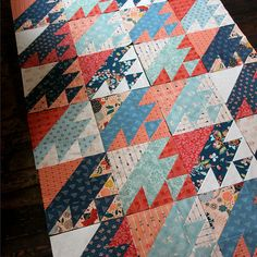 Yellow Quilts, Colorful Quilts, Boy Quilts, Mini Quilts, Quilt Baby, Quilt Block Patterns, Quilt Blocks, Southwestern Quilts, Half Square Triangle Quilts