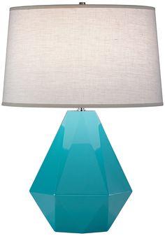 Delta Nickel Egg Blue Robert Abbey Table Lamp - Euro Style Lighting