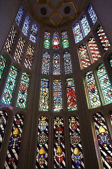 Stained glass windows at Hampton Court Palace. © Steven Vidler/Eurasia Press/Corbis