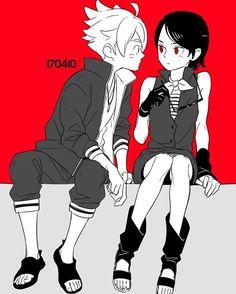 Boruto y Sarada Anime Naruto, Naruto Shippuden, Hinata, Sasuke, Sarada E Boruto, Naruhina, Anime Love, Me Anime, Manga Anime