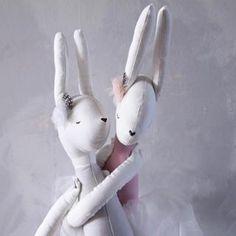 Ilka By Vanessa Byrne Clementine Cloth Bunny Doll | MonkeyMcCoy
