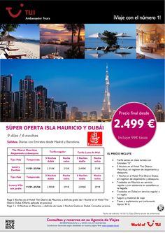 Súper oferta Isla Mauricio y Dubái. Precio final desde 2.499€ - http://zocotours.com/super-oferta-isla-mauricio-y-dubai-precio-final-desde-2-499e-4/