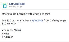 New special check it out! Gift Card Specials, Check It Out, Cards, Gifts, Presents, Maps, Favors, Playing Cards, Gift
